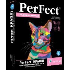 Перфект (Perfect) капли для котов противопаразитарные