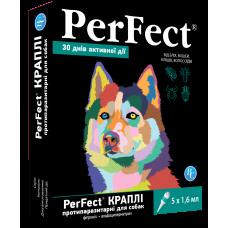 Перфект (Perfect) капли для собак средних и крупных пород противопаразитарные